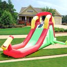 Inflatable Water Slide Bounce House with Climbing Wall and Jumper