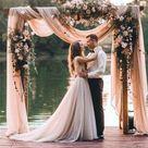 Wedding Arch Fabric Drape / Georgette Draping Fabric for Wedding Backdrop / Photography background / Chiffon wedding arch or tree decor
