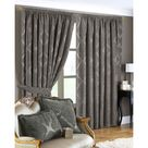 Riva Home Winchester Pencil Pleat Curtains (Mocha) (66x90in)