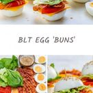 These BLT Egg 'Buns' are the Perfect Protein Breakfast or Snack!
