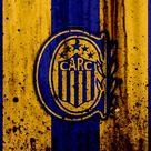 Descargar fondos de pantalla 4k, FC, Rosario Central, grunge, Superliga, el fútbol, la Argentina, detalle de logo, club de fútbol, de piedra textura, Rosario Central FC besthqwallpapers.com