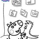 Kids-n-Fun | Kleurplaat Peppa de Big George
