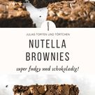 Nutella Brownies Fudgy Amerikanische Brownies