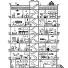 Apartment cross section print | Etsy
