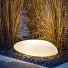 Gartenbeleuchtung Idee LED Stein