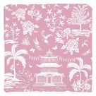Chinoiserie Pagoda, Rose Throw Pillows - Cover only-no insert / Poly Twill / 18x18 inch