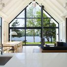 Window on the Lake Cottage in Saint-Élie-de-Caxton by YH2 - Design Milk