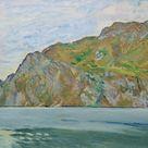 Koloman Moser, 1912 - View from Torbole on the West shore of Lake Garda - fine art print - Canvas print / 120x60cm - 47x24