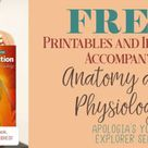 Tons of FREE Printables for Apologia's Elementary Anatomy Book