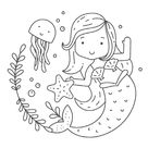 3 Free Printable Mermaid Coloring Pages for Girls