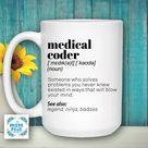 Medical Coder Definition Mug, Coder Gifts , Coder Graduation , Future Coder mugs ,  Funny Coder gifts , diagnostic coder, nosologist gift