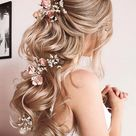 33 Stylish Wedding Hairstyles With Hair Down