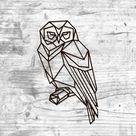 Metal Wall Art Geometric Owl Sign Home Decor Animal Interior Polygonal Scandi Minimalist wall art Office hanging