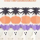 Halloween Paper Garland DIY Craft