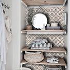 Tile Decals   Tiles for Kitchen/Bathroom Back splash   Floor decals   Marta Tile Sticker Pack in Taupe
