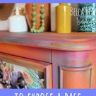 How to Wet Distress Furniture For a Vintage Look
