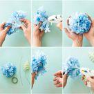 DIY Paper Hydrangeas