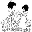 Shanti Give Mowgli A Pottery In The Jungle Book Coloring Page