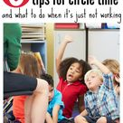 How To Save Circle Time - tips for circle time at preschool
