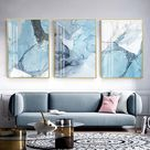 Blue Marble Texture - Canvas Wall Art Painting