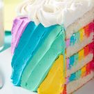 Rosettes and Rainbows Birthday Cake