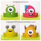 Printable Monster / Alien Themed Paper Crown