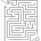 Easy Mazes. Printable Mazes for Kids.   Best Coloring Pages For Kids
