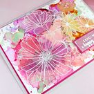 Vellum Flowers Over Alcohol Ink Backgrounds - The Foiled Fox