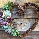 16 Sweet Heart Wreath Heart Shaped Grapevine Wreath | Etsy