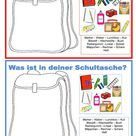 Partnerarbeit - Was ist in deiner Schultasche?