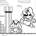 Printable Super Mario Brothers coloring page