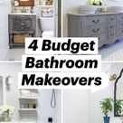 4 Budget Bathroom Makeovers