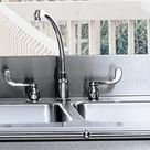 Elkay 3626EGDSNB4 36 Inch Flushmount Double Bowl Stainless Steel Kitchen Sink with 16-Gauge, 10 Inch Bowl Depth, Square Front, Towel Bar Mounting Holes and Drainers Included: 4 Holes with No Backsplash Hole Mounts