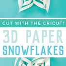 Giant Paper Snowflakes with the Cricut
