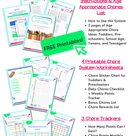 Free Printable Chore Checklist in the Complete Chore Reward System Pack