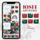 Ios14 aesthetic winter christmas app Icons for iphone home screen