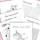 Unicorn Kindergarten Worksheets