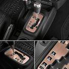 E-cowlboy Trim Gear Frame Cover Gear Shift Box Cover for Jeep Wrangler 2012~2018 Aluminum Inner Accessories - Golden