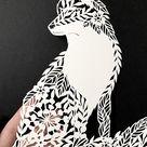Modèle de gravure sur papier Butterfly SVG JPEG, papier cut art DIY, Papier cut art papillon