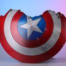Captain America Shield Metal Captain America Broken Shield Captain America Cosplay Shield Endgame 1/1 Scale Movie Prop Replica