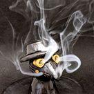 Plague Dr, OOAK, Handmade Plague Dr, Ceramic Plague Dr, Incense Burner, Steampunk Dr, Mini Plague Dr, Plague Dr Figurine, Handmade Sculpture