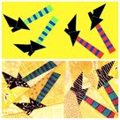 Quilt Pattern -- Paper Pattern for Halloween Flag -- Part 2: The Stripes quilt