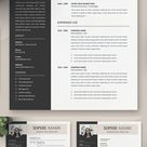 50 Resume Templates – Best Of 2020 | Design | Graphic Design Junction