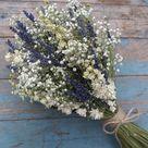 Lavender Twist Babys Breath Dried Flower Wedding Bouquet