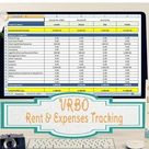 Landlords Spreadsheet Template, Rent and Expenses Spreadsheet, Short Term Rentals- 5-80 Property Template
