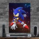 Metal Poster Galaxy Hedgehog