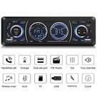 Car Stereo with Bluetooth Single Din Car Stereo Car Radio Car Audio Player Support Phone Fast Charge USB SD Card AUX in with Wireless Remote Control - Black
