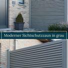 Sichtschutzzaun in grau, robuste Qualität in moderner Optik