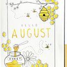 25+ Bee Themed Bullet Journal Spreads For 2020 | Bullet journal aesthetic, Bullet journal inspiratio