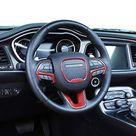 JeCar Steering Wheel Trim Interior Decoration Trim Kits for 2015-2020 Dodge Challenger/Charger & 2014-2019 Dodge Durango - Red carbon fiber